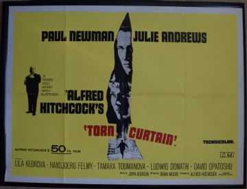 Movie Poster - Torn Curtain | Paul Newman | Alfred Hitchcock